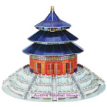 New Intellect 3D Puzzle Chinese Temple of Heaven World's Great Architecture Building Toy Gift - Education & Decoration