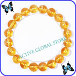 Sold Out 10mm Natural Citrine Crystal Quartz Elastic Bracelet Gift - Spirit Healing & Match Fashion/ Leisure Garments