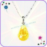 Natural Citrine Crystal Pendant