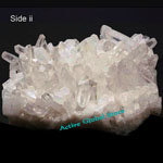 New Natural Clear Rock Crystal Quartz Cluster Stone Collection Decorated Love Gift