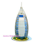 New Intellect 3D Puzzle Dubai Burj Al Arab Hotel World Great Architecture Building Toy Gift - Education & Decoration