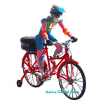 Electronic Bicycle & Cyclist Toy