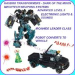 Sold Out Electronic Hasbro Transformers - Movie 3 - Dark of the Moon - Ironhide Autobot Leader Class  Action Figure Toy Gift