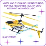 Sold Out Model King 3.5 Channel Infrared Radio Control Helicopter Gift Gyro LED Light-Yellow