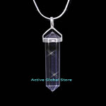 "New Natural Clear Rock Crystal Quartz Stone Pendulum Point  Pendant & 18""L 925 Silver Sterling Necklace, Love Gift"