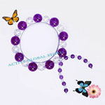 New Natural Amethyst Crystal  & Cut Facet Clear Rock Crystal Quartz Stone Fashion Design Kite Tail Shaped  Bracelet Love Gift