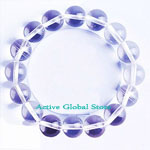 New 12mm Natural Clear Rock Crystal Quartz Stone Elastic Bracelet Love Gift, Size M