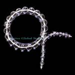 New 10mm Cut Facet Natural Clear Rock Crystal Quartz Stone Design Kite Shaped Elastic Bracelet Love Gift