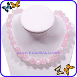 New Natural Rose Crystal Quartz Pink Fashion Design Necklace, Love Gift