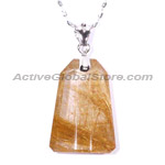 Natural Rutilate Crystal Pendant