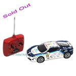 Sold Out Official Licensed Ferrari GT Radio Control 1:24th Scale Racing Blue White Car F430 Challenge XQ082AA Toy Gift