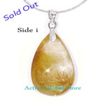 "Sold Out Natural Rutilated Crystal Quartz Pendant & 16""L 925 Sterling Silver Necklace Gift-Spirit Healing & Match Fashion /Leisure Garments"