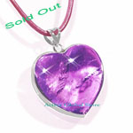 Sold Out Heart Shaped Natural Amethyst Crystal Quartz / Silver Sterling Frame Pendant & Leather Rope Necklace Gift-Spirit Healing & Match Fashion /Leisure Garments