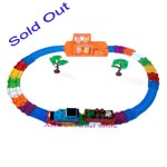 Sold Blue Electronic Locomotive Train Vehicle Run on Track Series & Wash Car Station Toy Gift