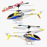 Sold Out Lian Sheng LS-120 3.5 Channel Infrared Radio Control Helicopter with Missile-Gyro LED Light-Yellow White Blue
