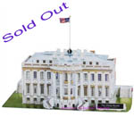 Sold Out Intellect 3D Puzzle The American White House 64 Pcs- World's Great Architecture Building Toy Gift