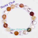 Sold Out 10mm Natural Assorted Rutilated Crystal Quartz Elastic Bracelet Gift - Match Fashion/ Leiusre Garments